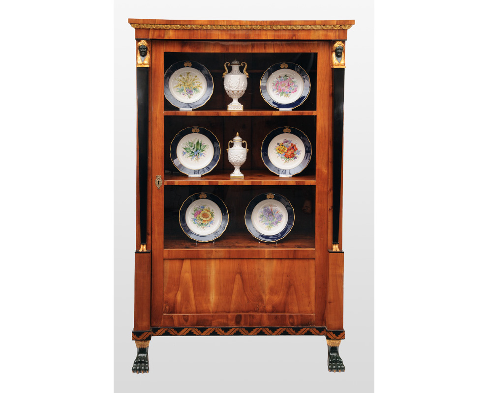 A Biedermeier glass cabinet