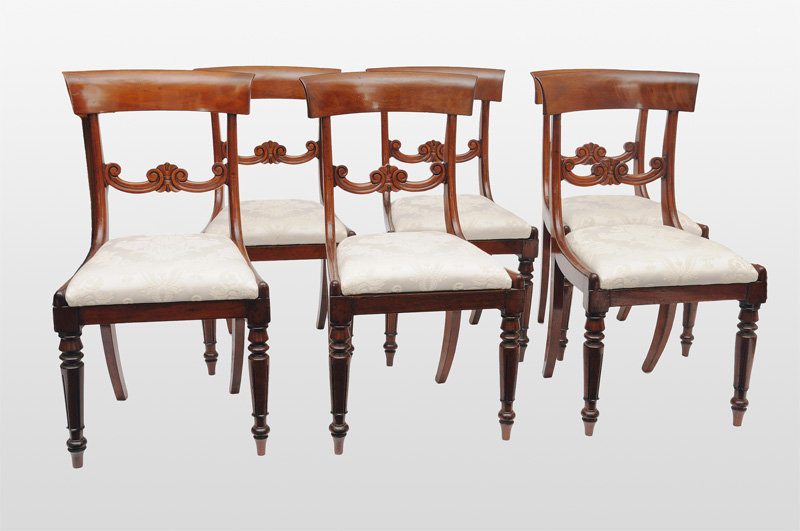 A set of 6 Biedermeier chairs
