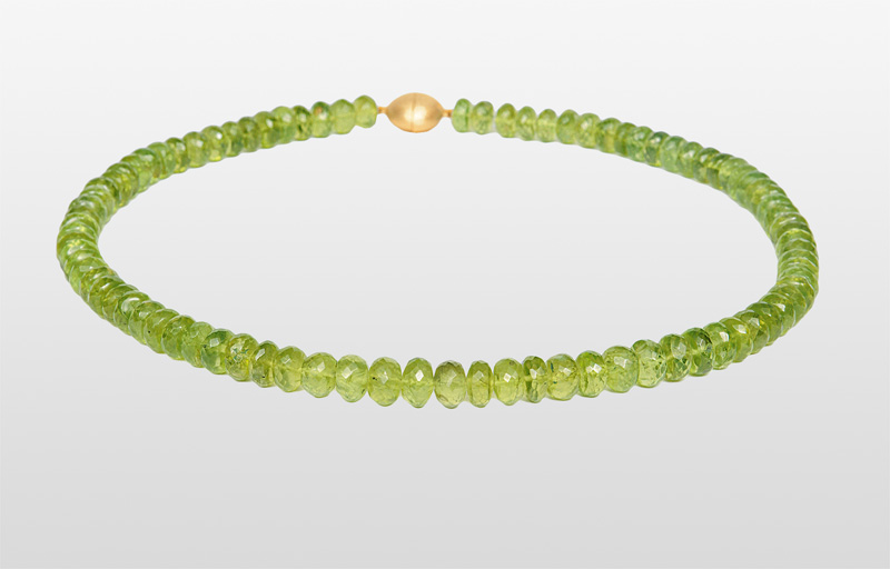 A peridot necklace