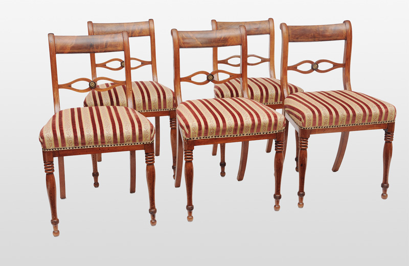 A set of 5 Biedermeier chairs