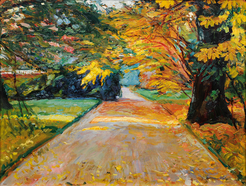 Autumnal Road in Rissen
