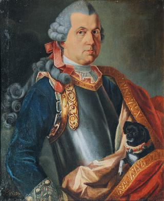 Portrait of a Gentleman with Pet Dog