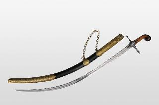 "A large Ottoman sword ""Shamshir"" with rhino horn hilt"