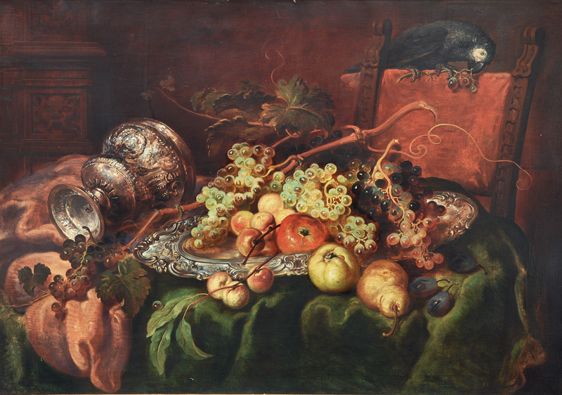 Table Still Life with Parrot