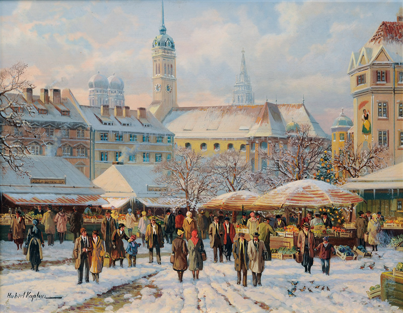 The Munich Viktualienmarkt
