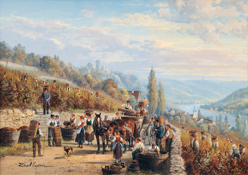 Grape Gathering by the Moselle