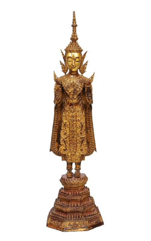 A bronze buddha in princely costume