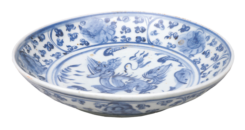 A plate with Qilin