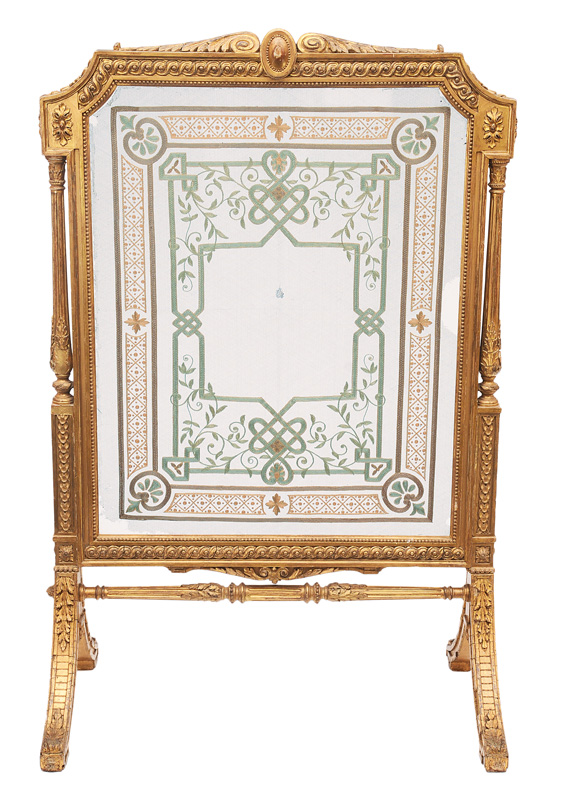A rare firescreen in the style of Louis Seize