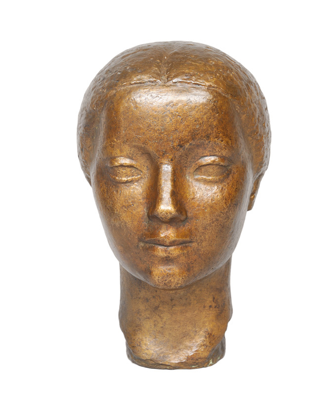 "A bronze bust ""Portrait of a young woman"""
