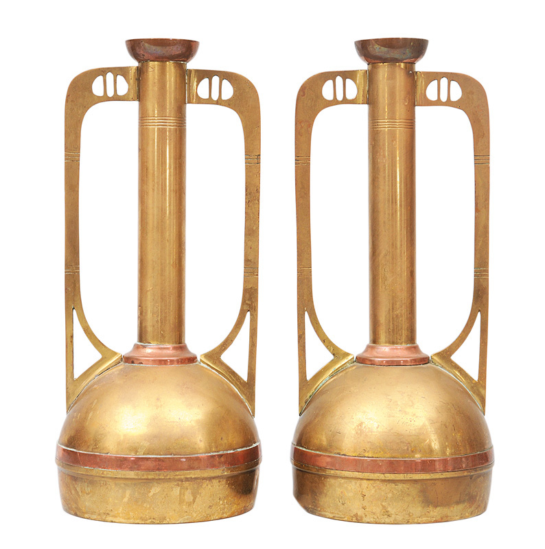 A pair of Art Nouveau vases
