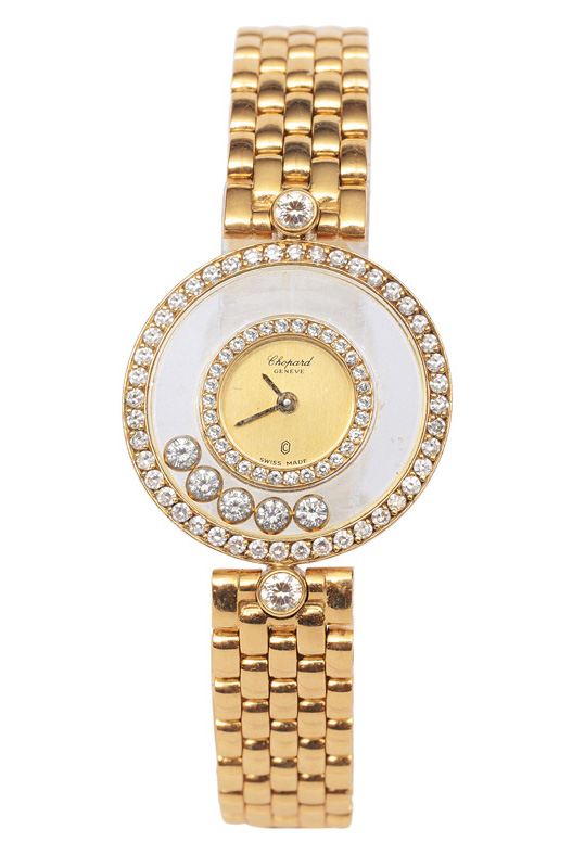 "A ladies watch with diamonds ""Happy Diamonds"""