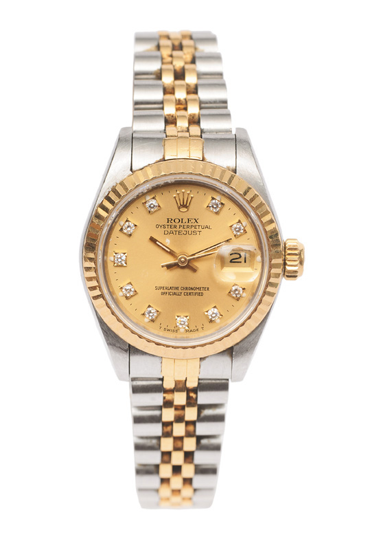 "A ladies watch ""Datejust"" with diamonds"