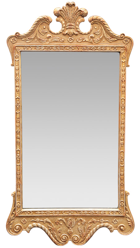 A mirror in the style of Baroque