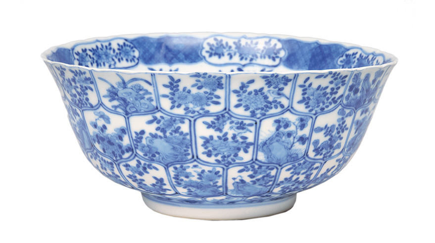 A bowl with fine scale decoration