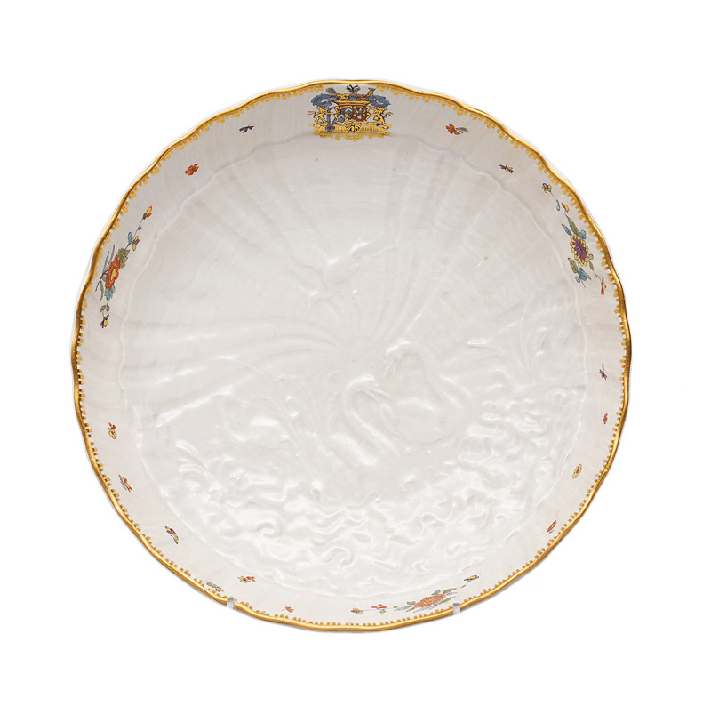"A circular bowl of the legendary ""Swan service"""