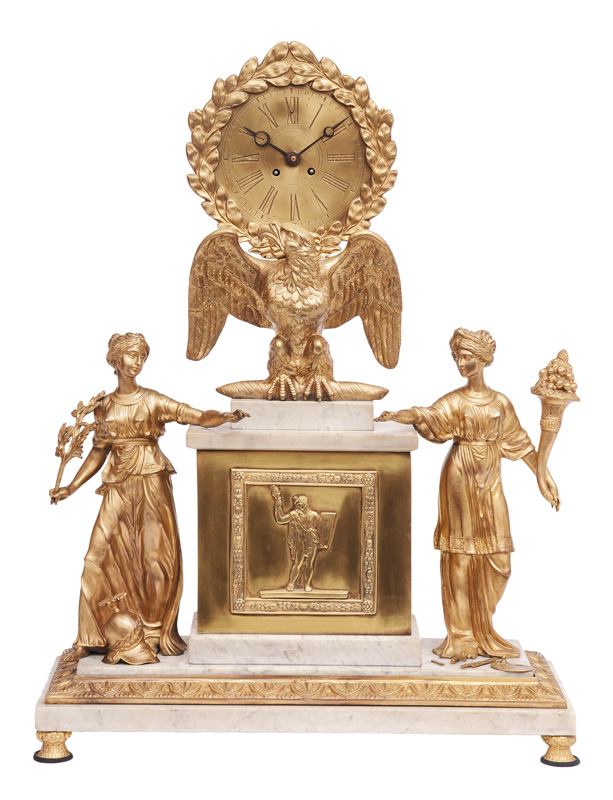An Empire pendulum with figural allegories