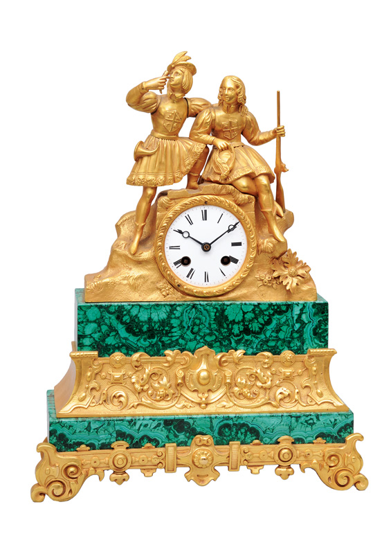 A Louis-Philippe mantle clock