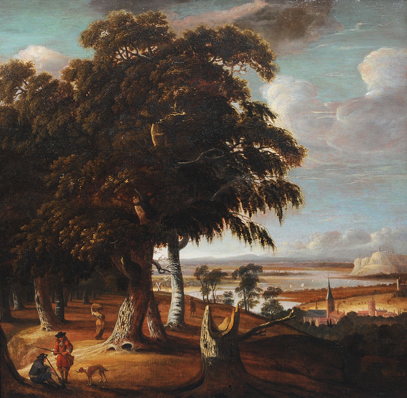 Extensive Landscape with Stump