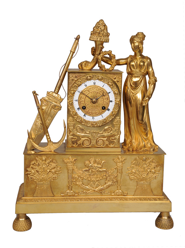 "An Empire mantle clock ""Allegory of Seafaring"""