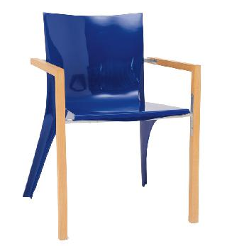 "A chair ""Wood and blue"""