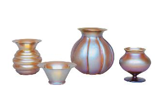 A set of 4 Myra vases