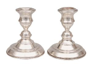 A pair of table candlesticks