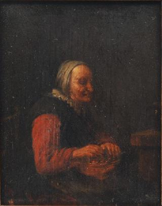 Woman warming her Hands