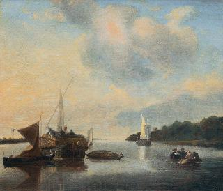 Calm Canal with Boats