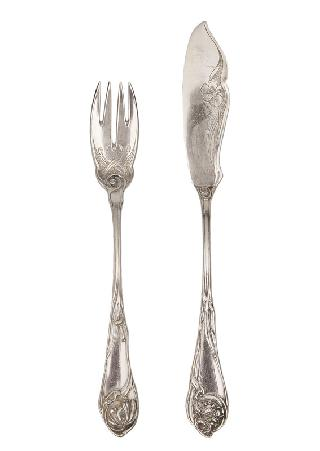 "An Art Nouveau cutlery ""Iris"" for 12 persons"