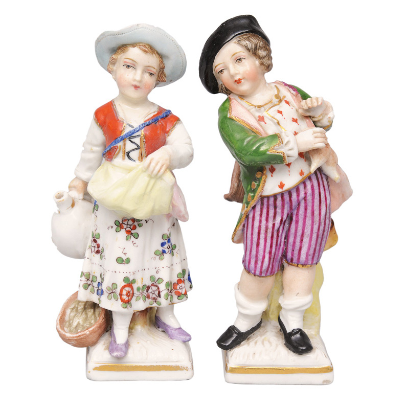 "Two figurines ""Garden children"""
