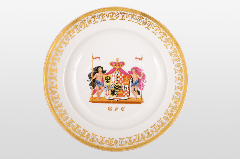 An armorial plate of the principality Schwarzburg-Rudolstadt