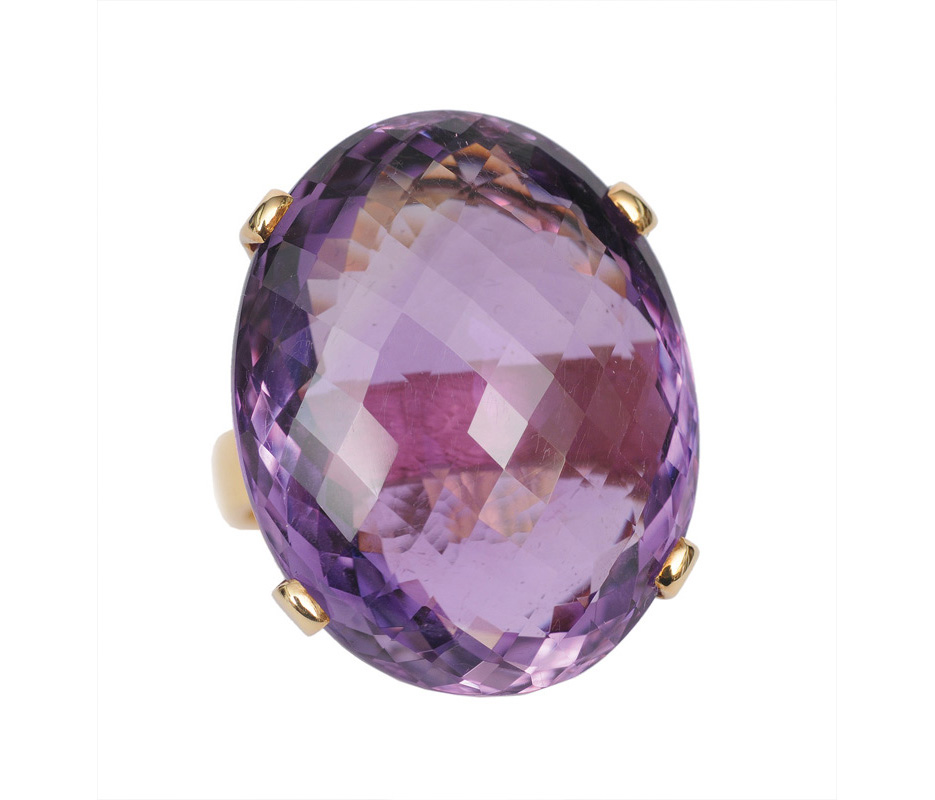 A large amethyst ring