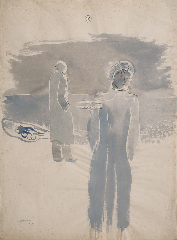 Figures on the Beach