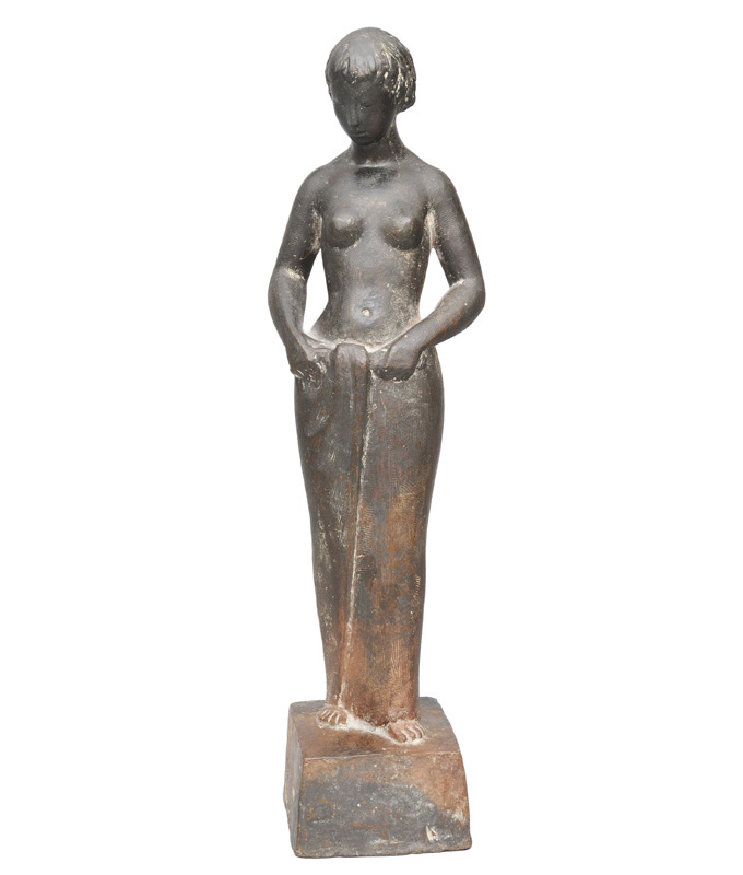 "A bronze figure ""Sich bindende"""