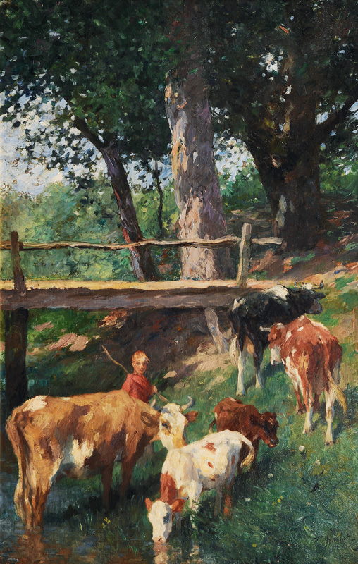 Cows by the Creek