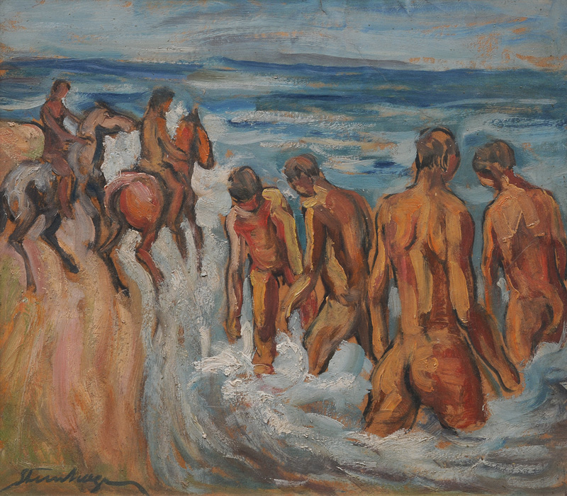 Bathers and Riders on the Beach