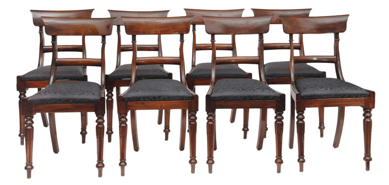 A set of 8 Biedermeier chairs