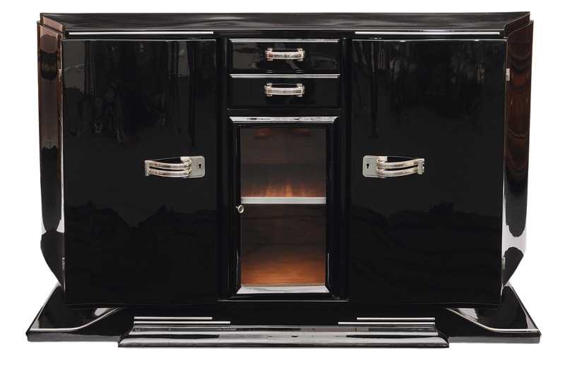 An Art Deco sideboard