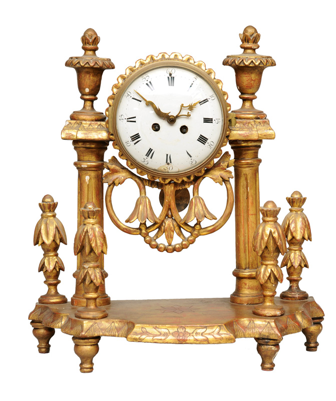 A Louis- Seize mantle clock