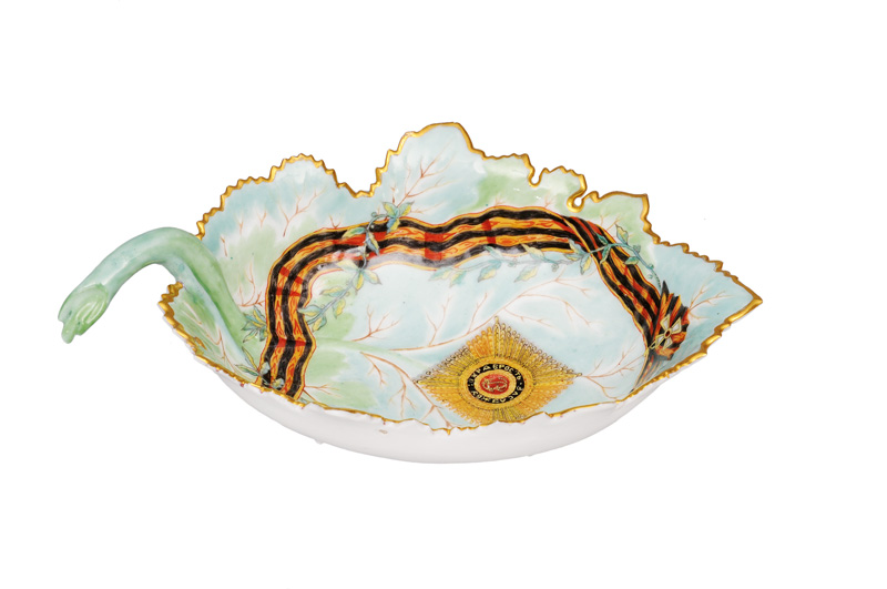 "An important leaf bowl from the ""Service of the Order of St. George"" for Empress Catherine II"