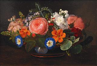 Bunch of Flowers in a Bowl