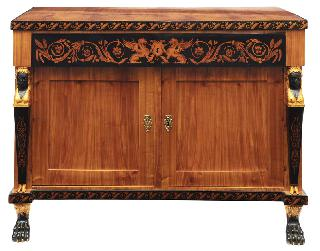 A Biedermeier chest of drawers