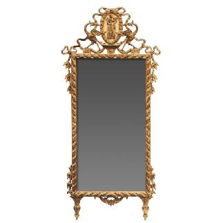 A mirror in the style of Louis Seize