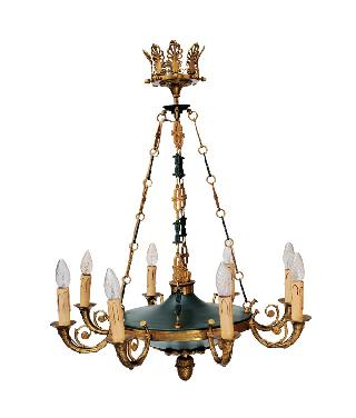 A ceiling light in the style of Napoleon III