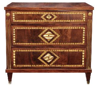 An Empire chest of drawers