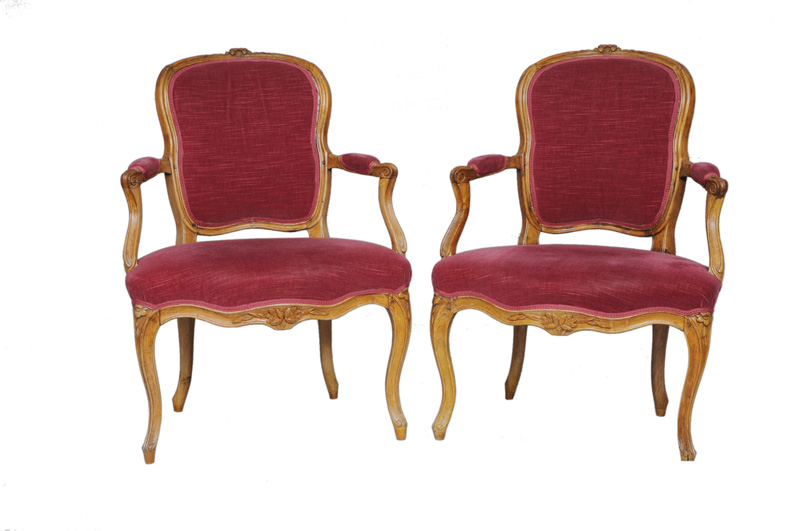 A pair of Baroque armchairs