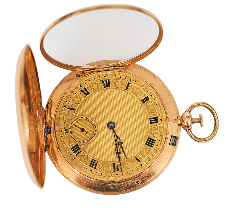 A rare, flat pocket watch