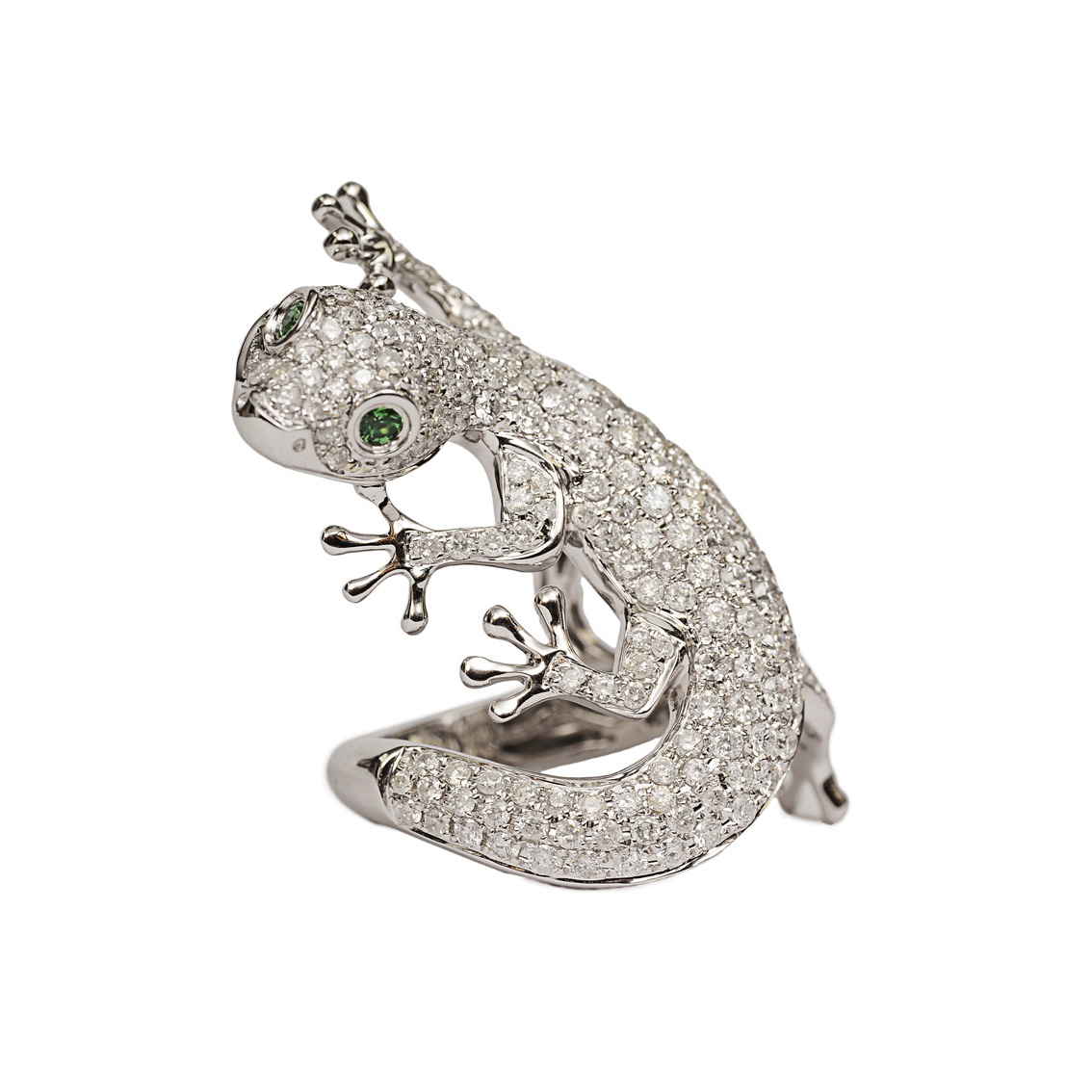 "An extraordinary diamond ring ""Gecko"