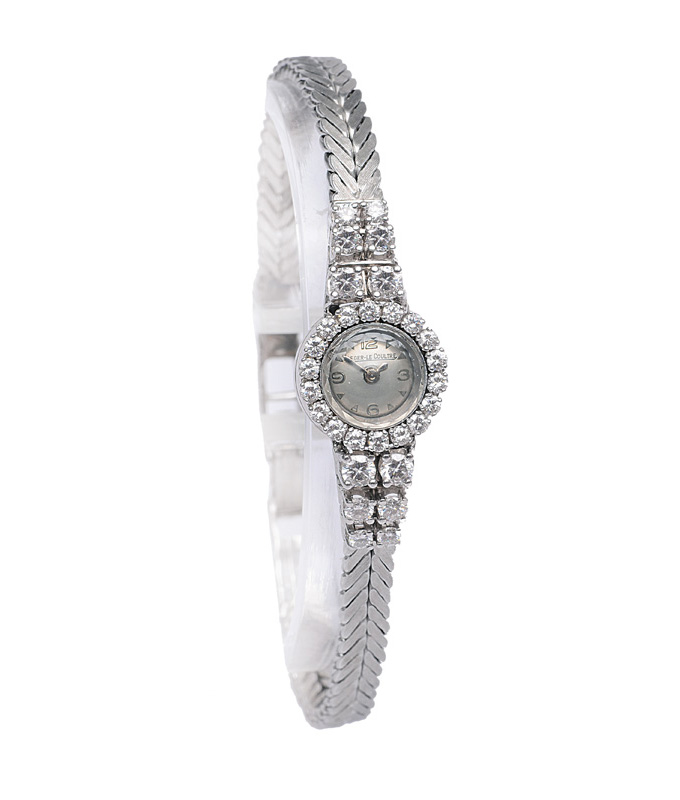 "A petite ladie""s watch with diamonds"